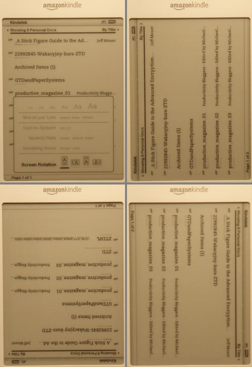 Kindle Screen Rotation