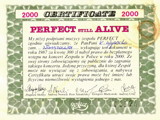 Perfect 2000 awers
