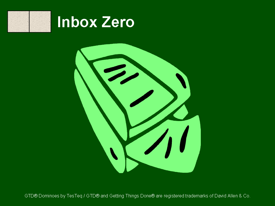 GTD Dominos 8: Inbox Zero